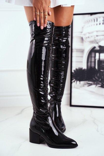 Dámske čižmy farba čierna kód obuvi RB35 BLK