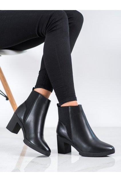 Čierne dámske topánky Kylie kod K1906911NE