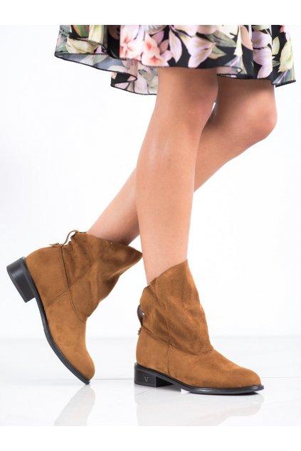 Hnedé dámske topánky Vinceza kod HX21-16079C