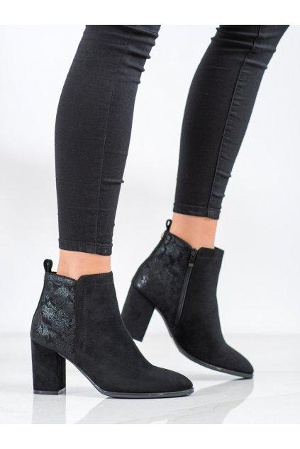 Čierne dámske topánky Sergio leone kod BT508B