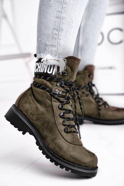 Zelená obuv kód topánok 9BT35-1331 DK.GREEN