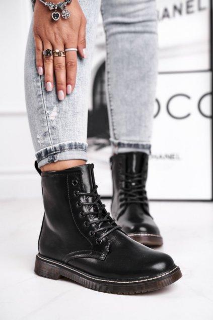 Čierna obuv kód topánok 20BT35-3002 BLK MAT