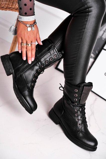 Čierna obuv kód topánok 20BT35-3076 BLK