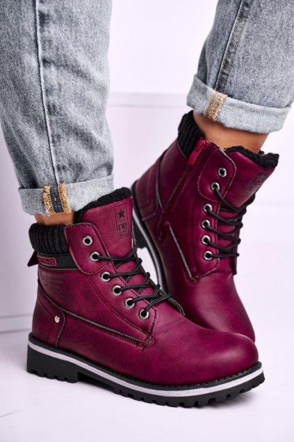 Červená obuv kód topánok 8BT26-0746 BURGUNDY