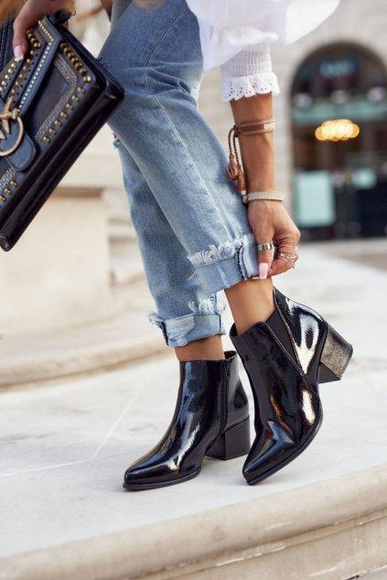 Čierna obuv kód topánok BT621 BLK LAC