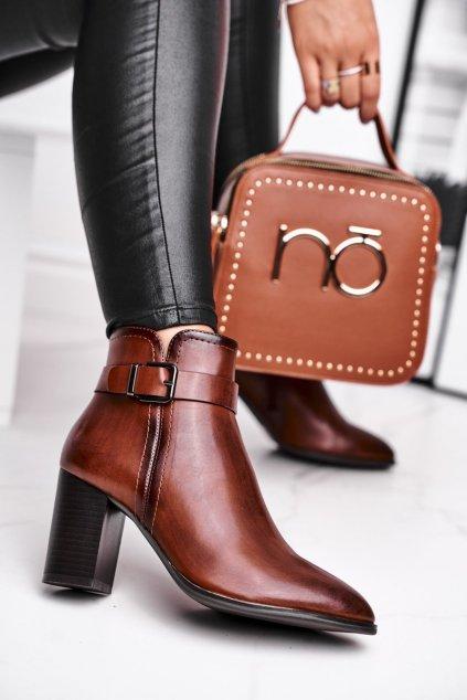 Hnedá obuv kód topánok BT509 BROWN