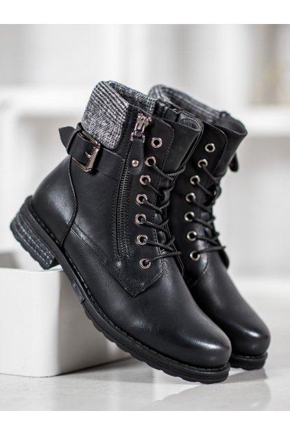 Čierne dámske topánky J. star NJSK V19037B