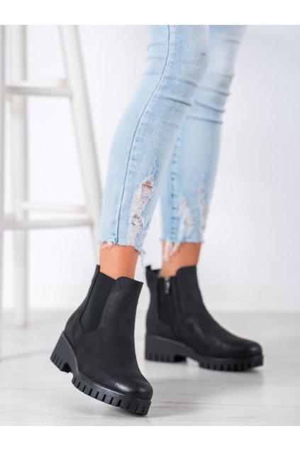 Čierne dámske topánky Goodin NJSK HF201B