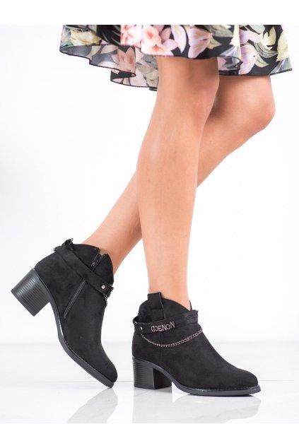Čierne dámske topánky Vinceza NJSK HX21-16200B