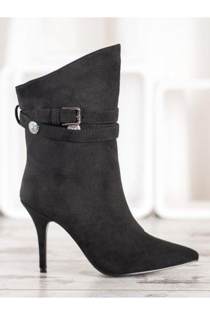 Čierne dámske topánky Seastar NJSK RB73B