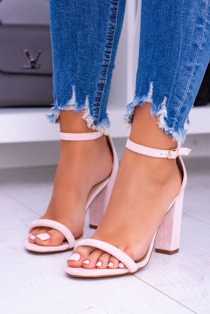 Semišové ružové sandále Ripley Lu Boo NJSK LB-04