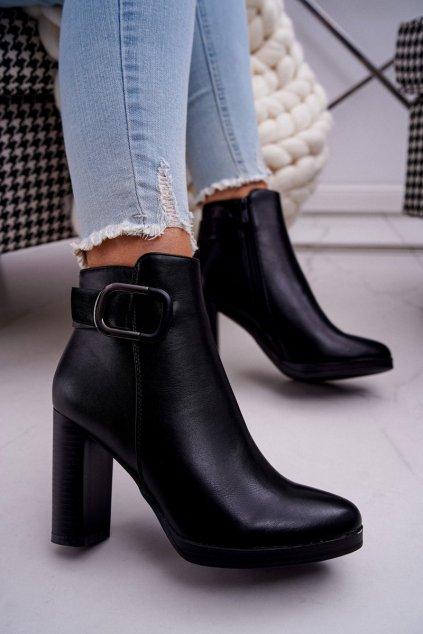 Čierna obuv kód topánok BM-9093 BLK