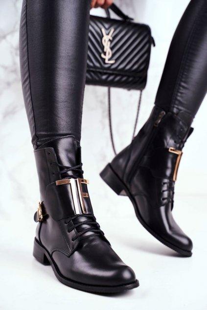 Čierna obuv kód topánok 2591 001 BLK