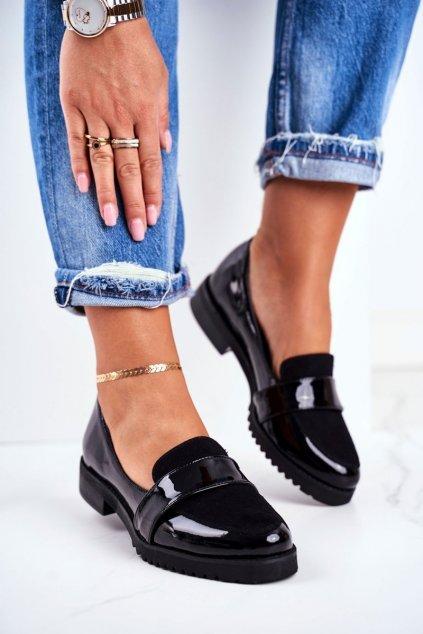Dámske mokasíny farba čierna kód obuvi 2589/Z BLK 035