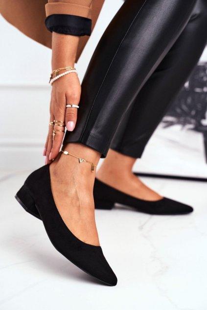 Dámske balerínky farba čierna kód obuvi CL70P BLACK