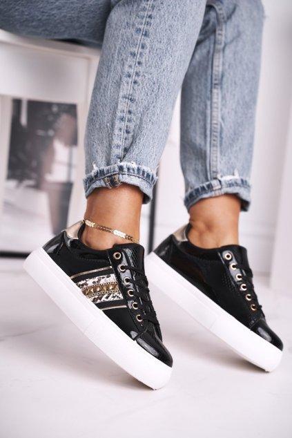 Dámske tenisky farba čierna kód obuvi B-473 BLK