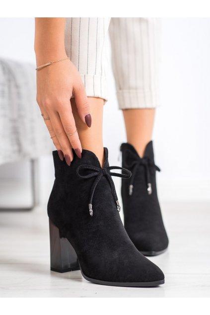 Čierne dámske topánky Goodin kod FL2022B