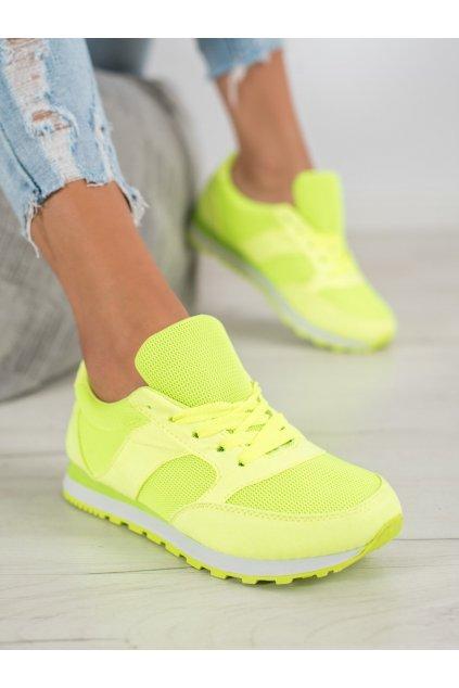 Žlté tenisky Ideal shoes kod W-3109JA