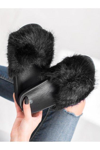 Čierne dámska obuv na doma Shelovet kod CK107B