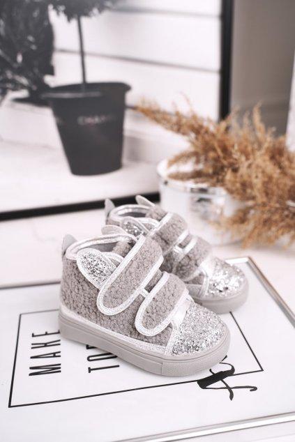 Detské tenisky farba sivá kód obuvi 1577-D GREY