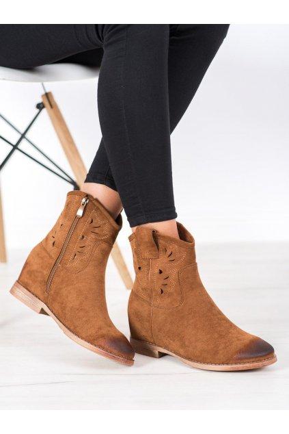 Hnedé dámske topánky Vinceza kod HX21-16170C