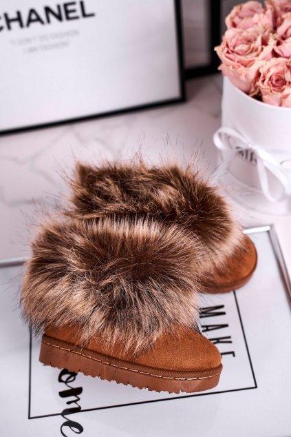 Detské snehule farba hnedá kód obuvi 20203-1F/2F/3F CAMEL