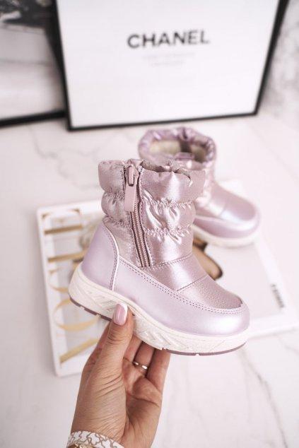 Detské snehule farba ružová kód obuvi 20DZ23-3161 PINK