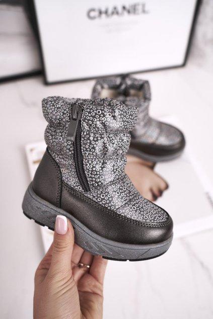 Detské snehule farba sivá kód obuvi 20DZ23-3161 GREY