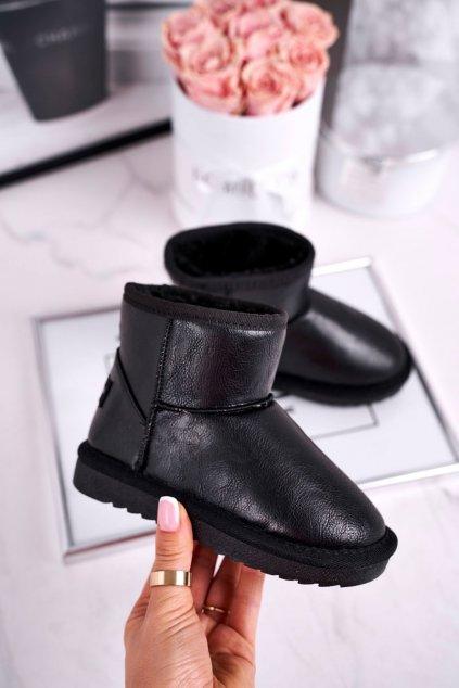 Detské členkové topánky farba čierna kód obuvi N226 BLK