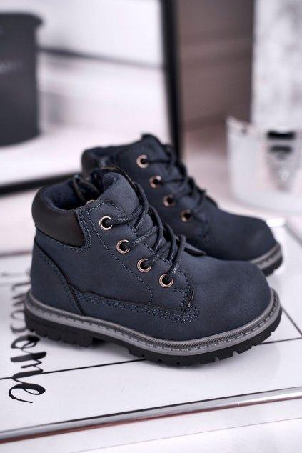 Detské členkové topánky farba modrá kód obuvi H62 NAVY