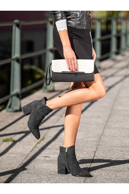 Čierne dámske topánky Vinceza kod XY21-10555B