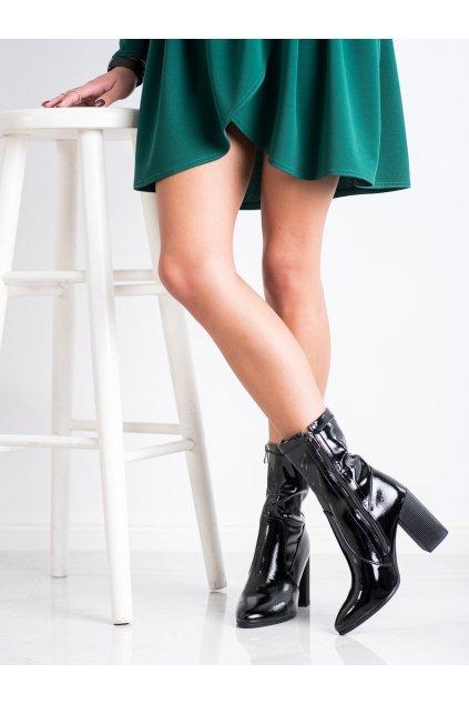 Čierne dámske topánky Goodin kod FL2016A-B