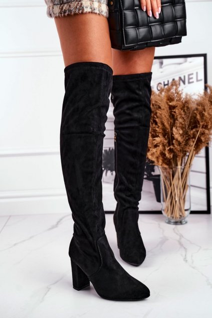 Dámske čižmy farba čierna kód obuvi 750-06 BLK
