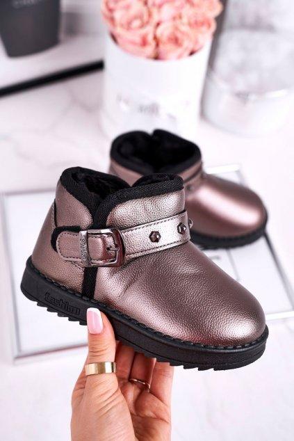 Detské členkové topánky farba sivá kód obuvi PD163 / PD164 GREY