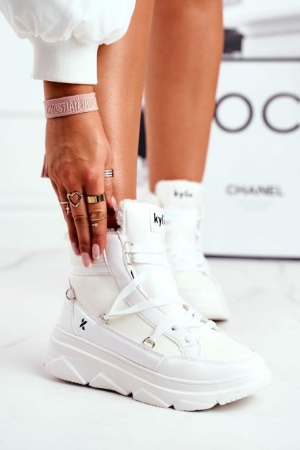 Dámske tenisky farba biela kód obuvi W20-1005 WHITE
