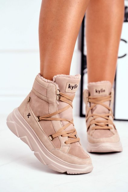 Dámske tenisky farba hnedá kód obuvi W20-1005 BEIGE