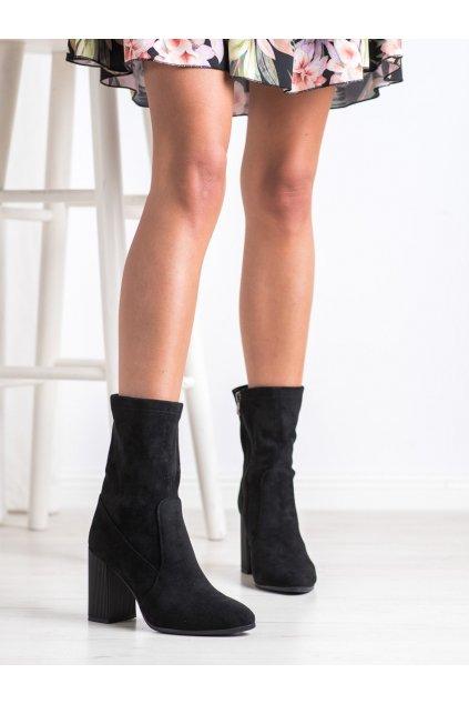 Čierne dámske topánky Goodin kod FL2016B