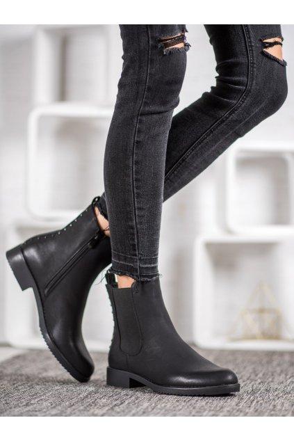 Čierne dámske topánky J. star NJSK A8048/A-B