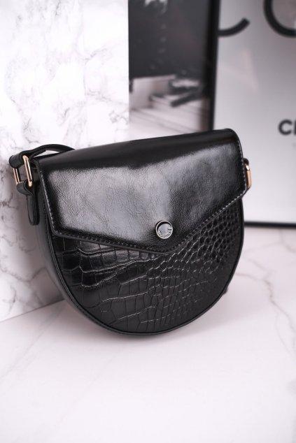 Dámska listová kabelka čierna kód kabelky BAG5710-020 BLK PRINT ZWIERZĘCY