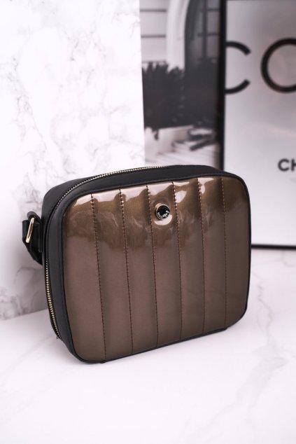 Dámska listová kabelka čierna kód kabelky BAG4220-019 GOLD