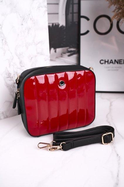 Dámska listová kabelka čierna kód kabelky BAG4220-019 RED