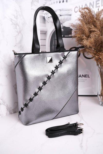 Dámska kabelka sivá kód kabelky BAG0840-022 SILVER