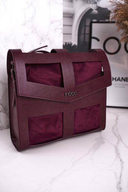 Dámska listová kabelka fialová kód kabelky NBAG-J2970-CM05 BORDOWY