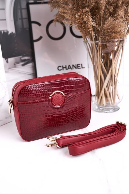 Dámska kabelka červená kód kabelky BAG7480-005 RED