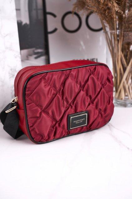 Dámska listová kabelka červená kód kabelky BAG4010-005 BURGUNDOWY