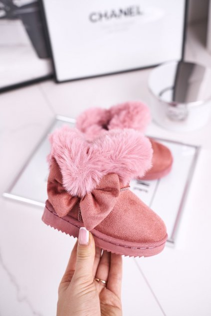 Detské snehule farba ružová kód obuvi 604-C PINK