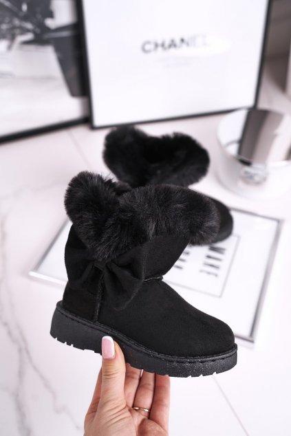 Detské snehule farba čierna kód obuvi 604-5 1A/2A BLK