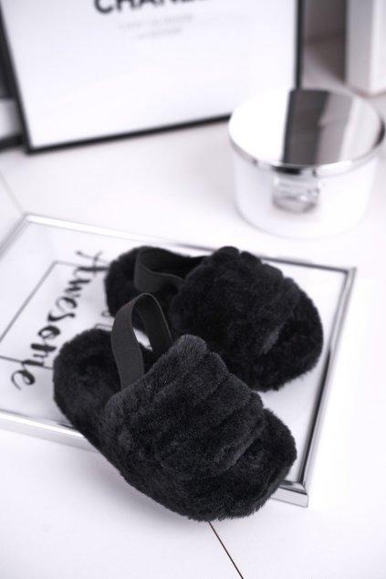 Detské šľapky farba čierna kód obuvi 7351-A BLK