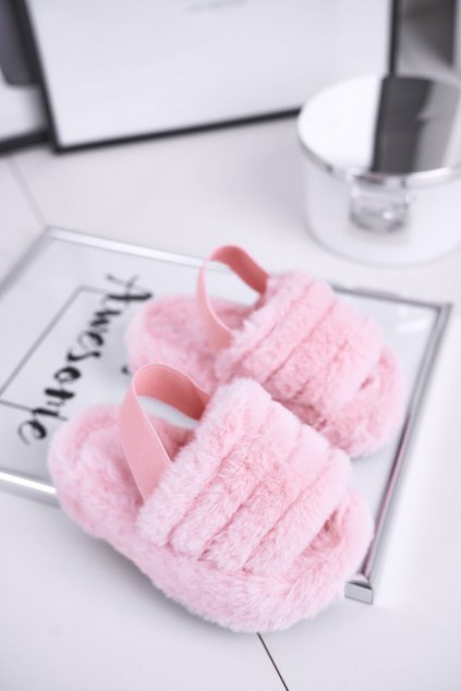 Detské šľapky farba ružová kód obuvi 7351-C PINK