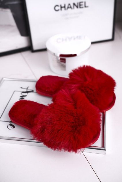 Detské šľapky farba červená kód obuvi KL-30B RED